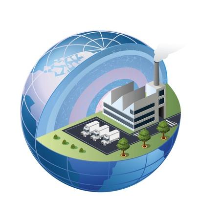 Un frammento della fabbrica si trova nella zona del globo