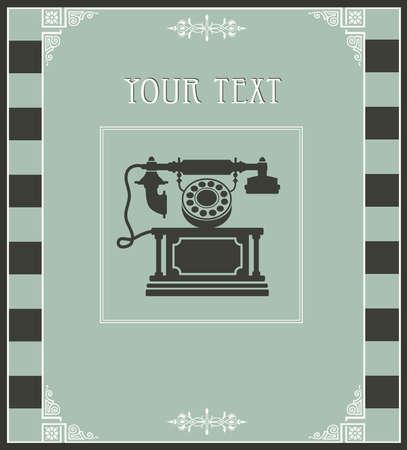vintage telefoon: Vintage telefoon als een design element Postcard Stock Illustratie