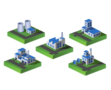 Set of icons isometric to the city theme Illustration