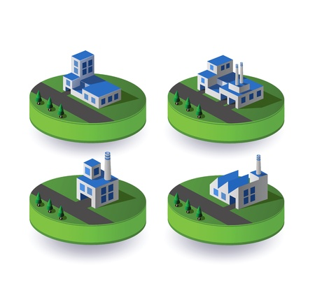 Set of icons isometric to the city theme Stock Vector - 13180976