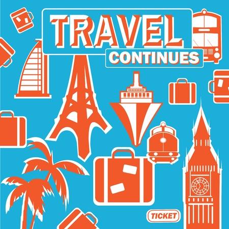 cartel sobre el tema del viaje