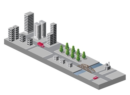 Isometric view of the urban landscape Stock Vector - 13180980