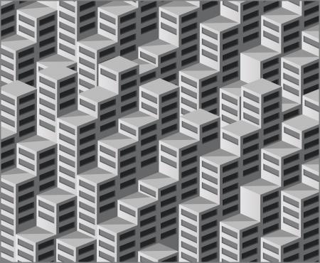 Lo sfondo è costituito da case isometriche