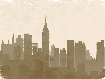 Vintage image of silhouette style of old photos Vector