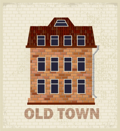 Stylized image of an old town house Stock Vector - 13691609