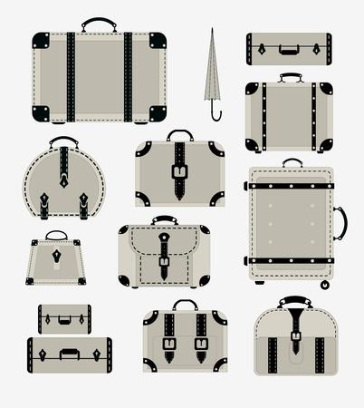 Una serie di immagini di tronchi di traffico e sacchetti