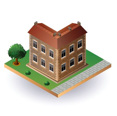 Stylized image of an old town house Vector