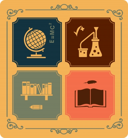 Image objects that are relevant to school Stock Vector - 14988974