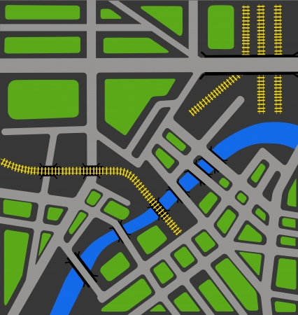 street map: Vector map of the area of municipal services