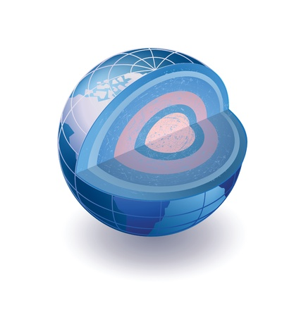 incision: Isometric view of the globe in the section