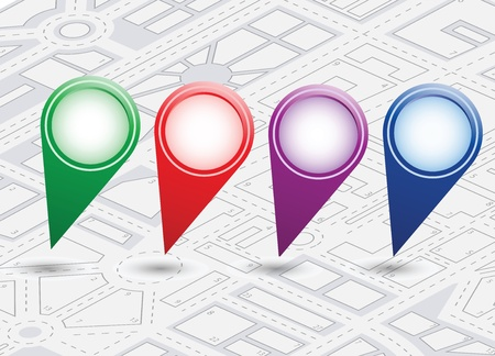 A set of vector icons isometric city map background Stock Vector - 17147899