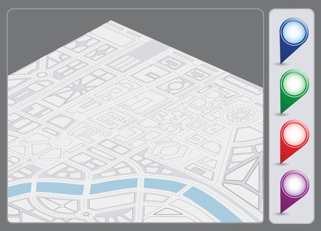 A set of vector icons isometric city map background Stock Vector - 17147946