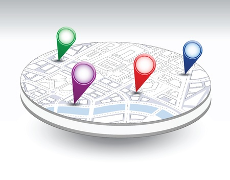 A set of vector icons isometric city map background Stock Vector - 17147948