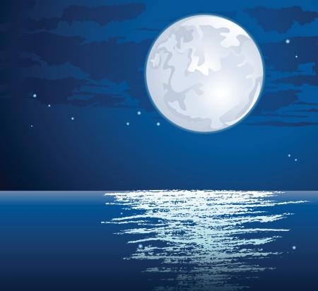 moonlit: moonlit path on the sea
