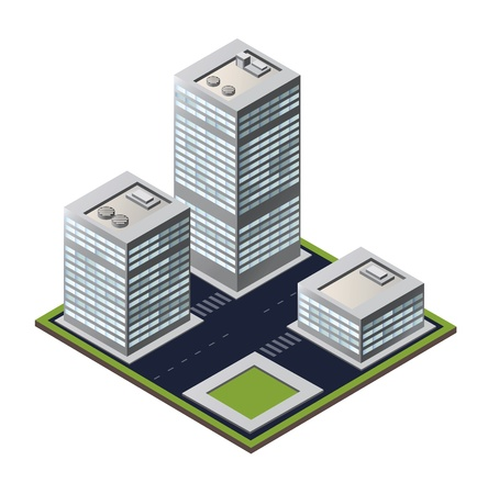 city block on a white background Vector