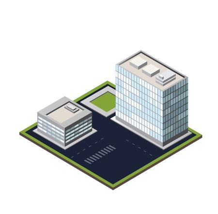 city block on a white background 矢量图像