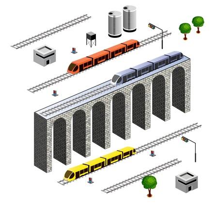 elevate: isometric Railroad