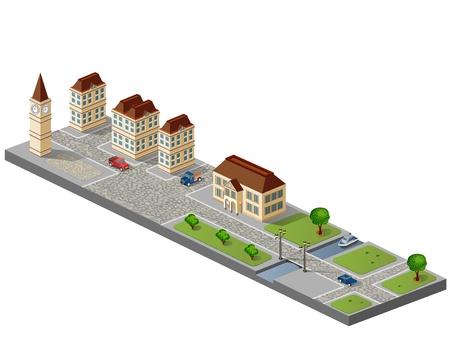isometric: Town in isometric