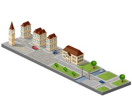 isom�trique: Ville en isom�trique