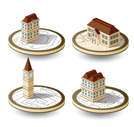 Old houses Vector