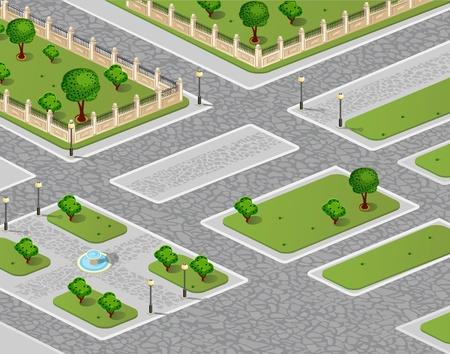 Vector of urban garden Illustration