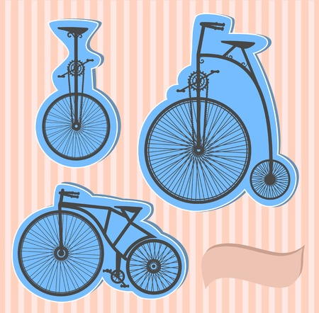 conducted: Color  bikes Illustration