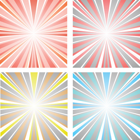 Vector set abstract illustration sunset Stock Vector - 22345622