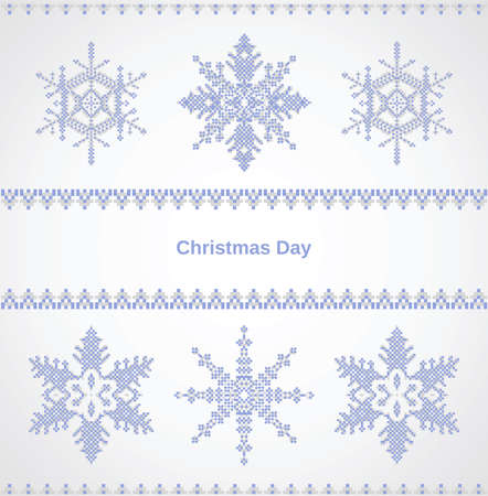 Christmas card with snowflakes on a white background Stock Vector - 22345626