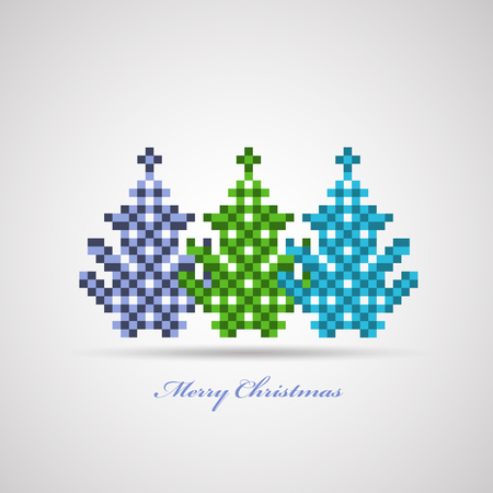 Festive Christmas trees on a white background Stock Vector - 22345628