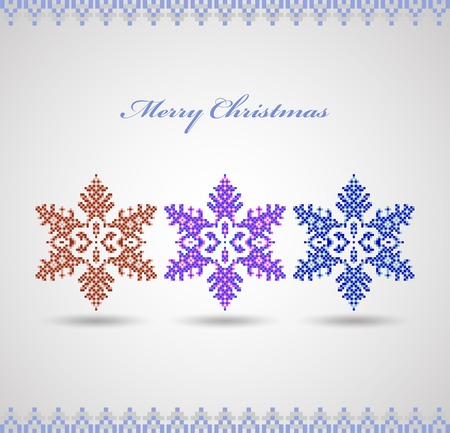 Christmas card with snowflakes on a white background Stock Vector - 22345629