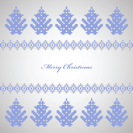 Festive Christmas trees on a white background Stock Vector - 22345630