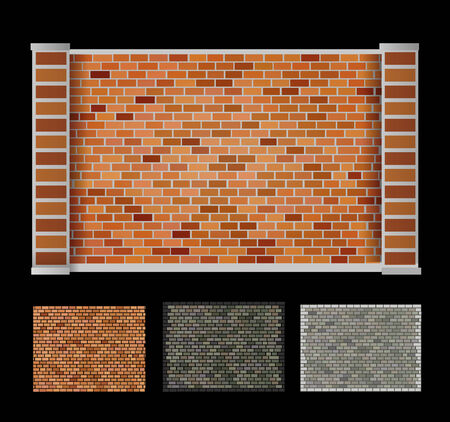 encasement: Wall made of bricks of different colors