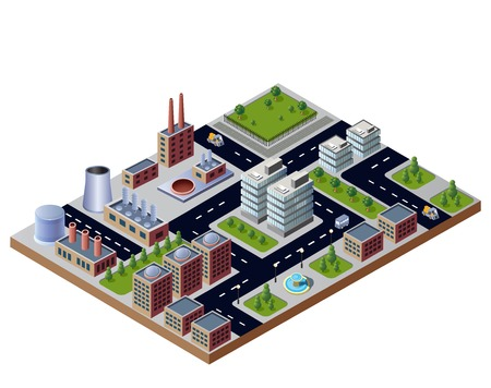 urban and industrial buildings Vector
