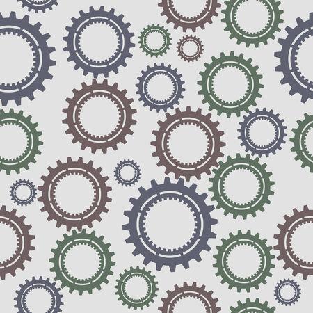 Pattern seamless gear Vector