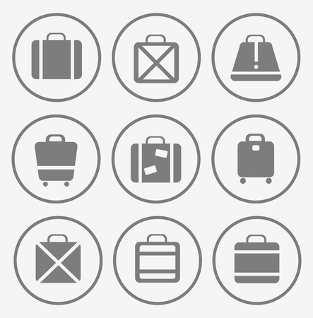 vector images: A set of vector images of traffic trunks and bags