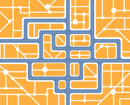 Plan of the city with streets and houses Stock Vector - 29120816