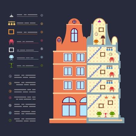 Home remodel as a preliminary facility architecture Ilustracja