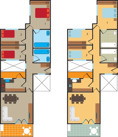 Plan scheme high-rise apartment. For design and creativity. Can be used as background.