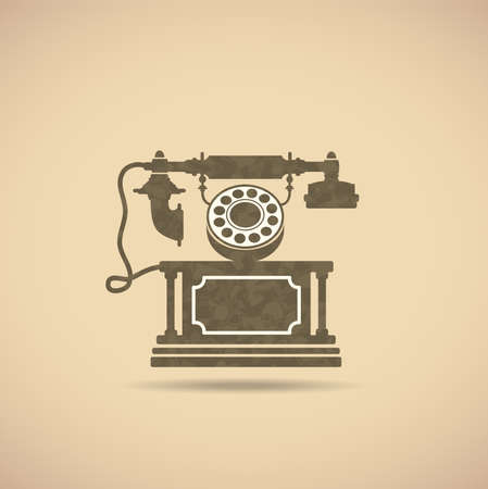 old phone: Image of an old phone in vintage style.