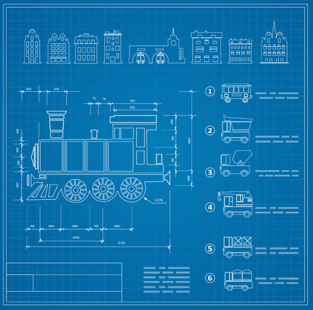 plotting: Technical drawings for locomotive engineers Illustration
