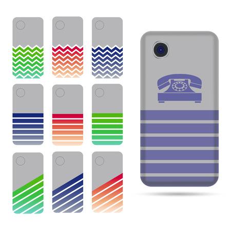 case: Templates for case phone set Illustration