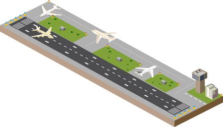 Obraz z płaszczyzn obrazu i pas startowy lotniska