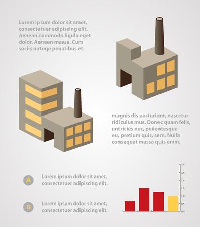 Industriegeschäft info Grafikvorlagen für Design und Kreativität Standard-Bild - 42294281