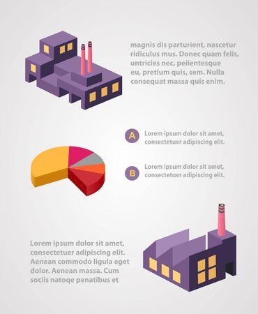 디자인 및 독창성을위한 산업 비즈니스 정보 그래픽 템플릿
