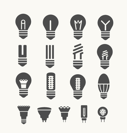 Set of environmental energy saving lamps for art and design