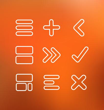 디자인과 영감을위한 선형 드로잉 컴퓨터 아이콘