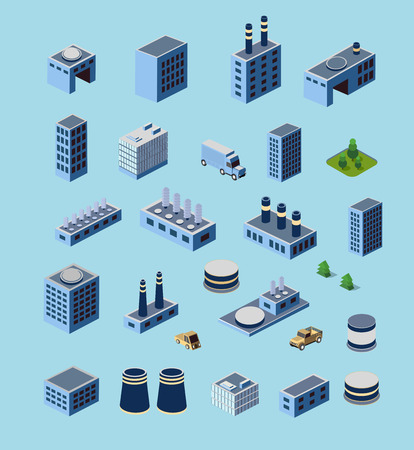 Industriegebäude, Fabriken und Kessel in die richtige Perspektive für Design und Kreativität Standard-Bild - 42424919