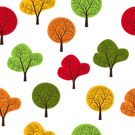 used items: The pattern of trees seamless, repeating.It can be used as decoration for fabrics, wallpaper, pattern for a variety of goods, items or for design and creativity.