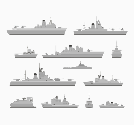 a battleship: Set warships for design and for creativity