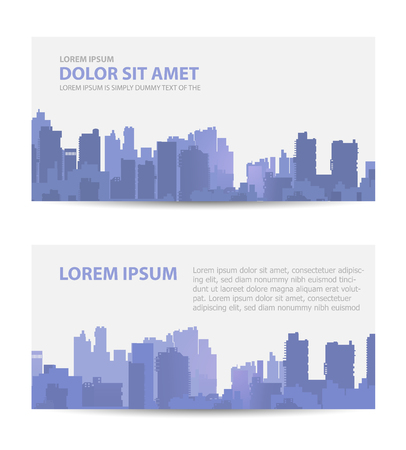 real business: Set template invitations, business cards, flyers on the urban theme. Suitable for real estate agencies and construction and tourism companies.
